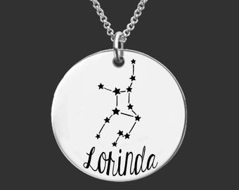 Virgo Zodiac Necklace | Virgo Constellation Necklace | Astrology Necklace | Personalized Gifts | Korena Loves