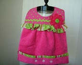 Baby Bibs; Girls Baby Bibs; Hot Pink and Green Baby Bib; Toddlers Bib; Cute Girls Bibs; Terry Cloth Bib; Snap closure Bibs; Baby Shower Gift