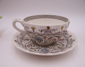 """Vintage Copeland Spode English Bone China Teacup and Saucer """"Florence"""" Pattern - 5 available - English teacup"""