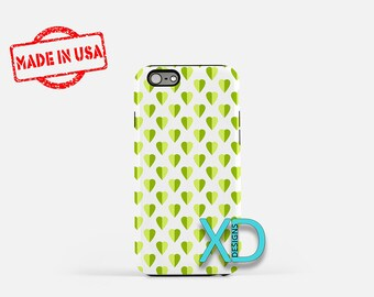 Green Heart Phone Case, Green Heart iPhone Case, Multitone iPhone 7 Case, White, Multitone iPhone 6 Case, Green Heart Tough Case, Clear Case