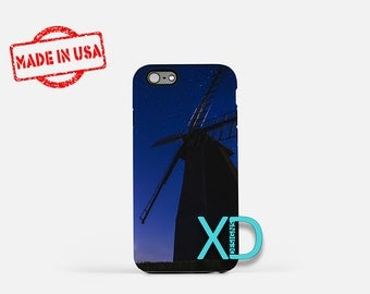 Windmill iPhone Case,  Night Sky iPhone Case, Nature iPhone 8 Case,  Dusk, iPhone 6s Case, iPhone 7 Case, Phone Case, iPhone X Case, SE Case