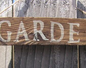 Garden Rustic Sign