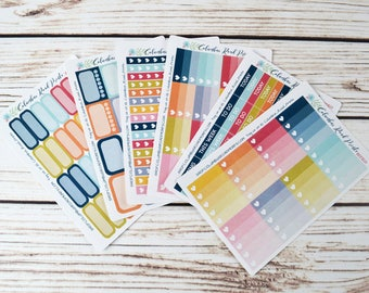 """July Basic Essentials Planner Stickers, """"Dream"""" matching solid tone sheets, July stickers, July functional"""