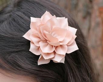 19 colors Dahlia flower clip small fabric flower hair clip bridesmaids flower girl