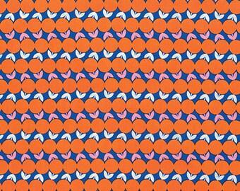 Navy Blue Coral Digital Print Upholstery Fabric Modern Red : orange quilt fabric - Adamdwight.com