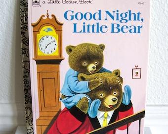 """A Little Golden Book """"Good Night Little Bear"""" - Children's Book, Story Book, Bedtime Story"""