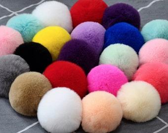 8cm,Faux fur Pom Pom, Furry pom pom, Large Fur Balls, Pom Pom, Fur Ball, Faux Rabbit Fur Pom Pom