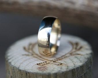 10K Yellow Gold Wedding Band - Staghead Designs