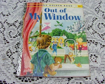 "A Little Golden Book, ""Out Of My Window"", 1955 ""A"" First Edition, Written By Alice Low, Art By Polly Jackson"