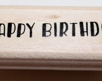 HAPPY BIRTHDAY Rubber Stamp retired from Stampin Up!