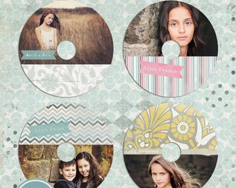 ON SALE cd/dvd labels templates for photographers - INSTANT Download