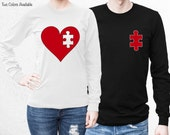 Couples Shirts, His And Hers Longsleeve TShirt Set, Best Couple Gifts, For Him And Her, Valentines Day Shirt, Love