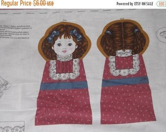CLEARANCE Victorian Pillow Doll fabric Once upon a time Mary had a little lamb
