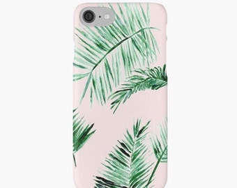 Pink Palm Leaf iPhone 7 Case, leaf iphone 6 case, palm leaf iphone 7, pink palm leaf case, palm leaf phone case, pink iphone 7 case