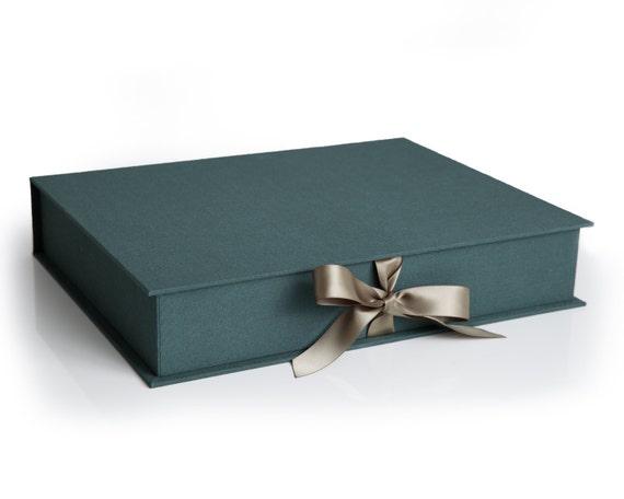 Green Bundle 11x14 Linen Luxury Folio Box With 20 Acid