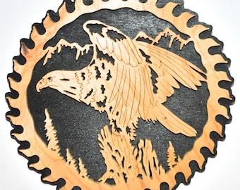 Eagle Saw Blade Scroll Saw Wall Plaque