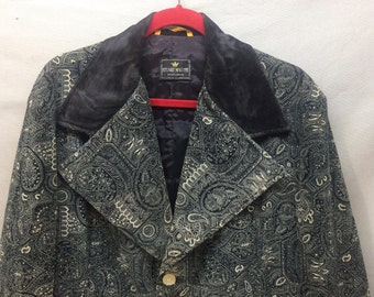 Retro Pimp Daddy Wild 1970's Large lapel Dress Jacket Disco