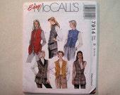Vintage McCalls 7914 Misses Vest Sewing Pattern - Size 8, 10, 12 Misses Buttoned, Lined Vest Pattern in Two Lengths