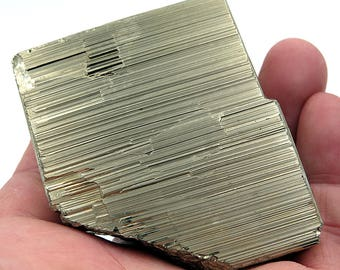 Excellent Single Cube of Detailed Pyrite with Quartz. 14 oz. from Huanzala, Peru