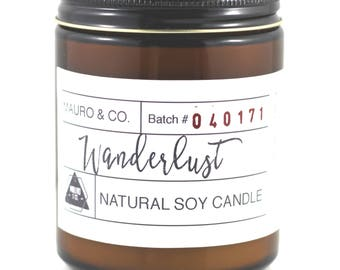 Lavender Clary Sage Wood wick Candle 8 oz, Natural soy wax candle, Scented Candle, Natural Candle Victoria, BC Vancouver Island Canada