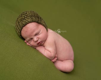 Newborn {Tyler} Knit Bonnet - Newborn Photography Prop - Several Color Options