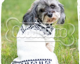 "Our dog sweater Phuyu"" NOW in White and Black"