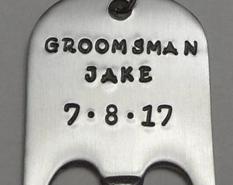 Groomsman Bottle Opener (personalized)