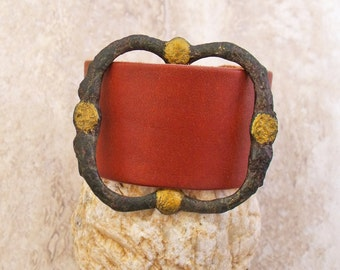 Tudor England Period Large Buckle Made Into A Bracelet