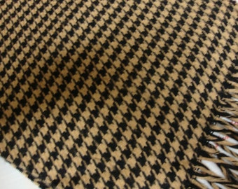 Light Brown Houndstooth Scarf