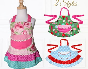Apron pattern, Apron Sewing Pattern, Kids Apron Pattern, Child Apron Pattern, Easy Apron Pattern, Girls Apron Pattern, PDF Pattern, APRON