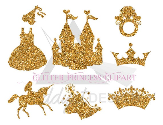 Unicorn Party Golden Unicorns Gold Crown Unicorn Glitter