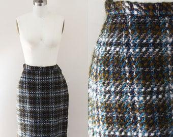 1960s blue wool skirt // 1960s wool skirt // vintage skirt
