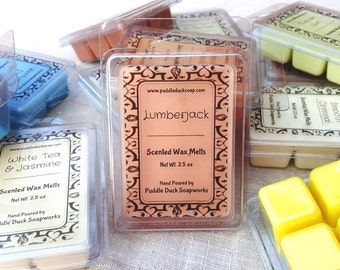 Lumberjack Wax Melts - Winter Home Fragrance of Balsam Pine and Campfire