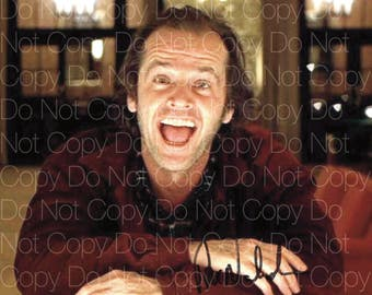 The Shining signed 3 Jack Nicholson Here's Johnny Red Rum 8X10 photo picture signed autograph RP