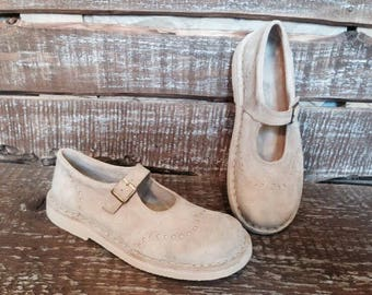 Handmade maryjanes Light Beige