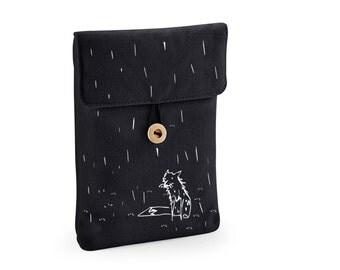 ipad mini case, present for daughter, digital media case, padded sleeve, fox tablet sleeve, kindle case