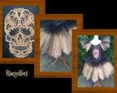 black and gold skull tutu dress. age 7 years  knee length