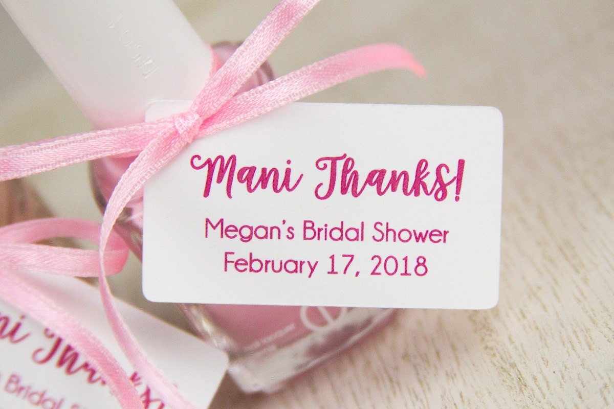 thank you for bridal shower favors - 28 images - nail favor tags ...