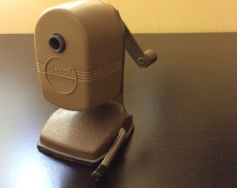 Vintage Berol Table Mount Manual Pencil Sharpener with Vacuhold Suction