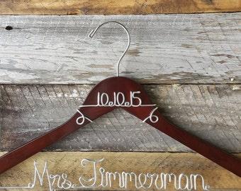 Personalized Custom Wire Wedding Hanger