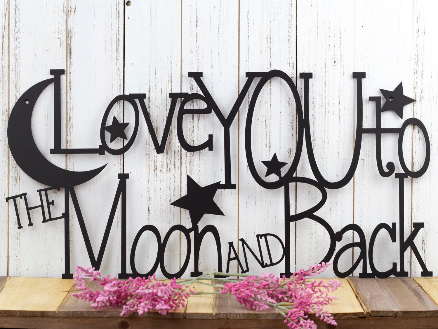 Love You To The Moon And Back Metal Sign Metal Wall Art