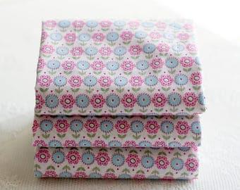 Spring Flower, Cotton Fabric, Fat Quarters