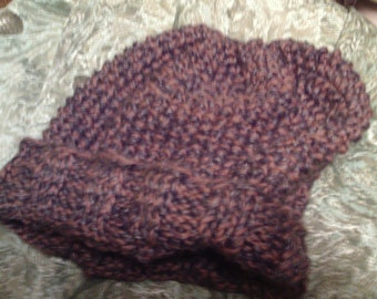 Heathered Hand-Knit Cap