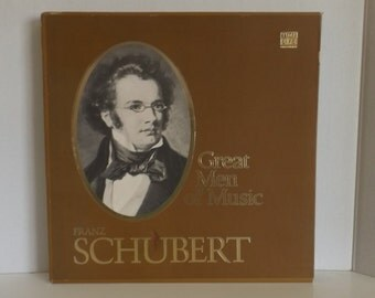 Franz Schubert Great Men Of Music Time Life Records 4LP Set with booklet  R-51