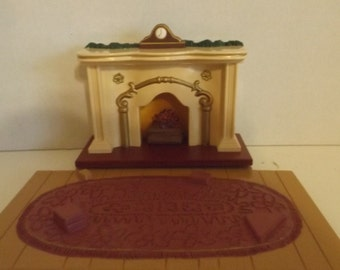 Bearingers Keepsake Ornament Filckering Light Fireplace 1993  XPR974-9  CL35-23