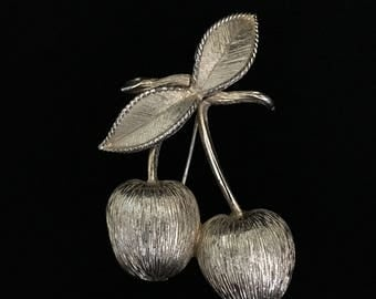 """Vintage """"Golden Cherries"""" Brooch by Sarah Coventry (Tier 1)"""
