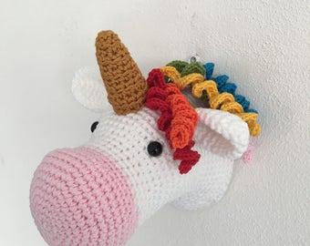 Gehaakte Unicorn hoofd