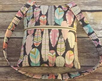 SALE-Feathers Cross Body Bag-Messenger Bag-Sling Bag-Clutch-Adjustable Strap-Go Bag-Ready to go