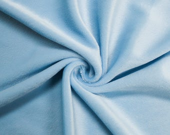 """Baby Blue 60"""" Steam Medium-Weight Velour Fabric by the Yard - Style 3092"""