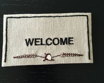 """Dollhouse Miniature Welcome Mat 1"""" Scale .  (VF)"""